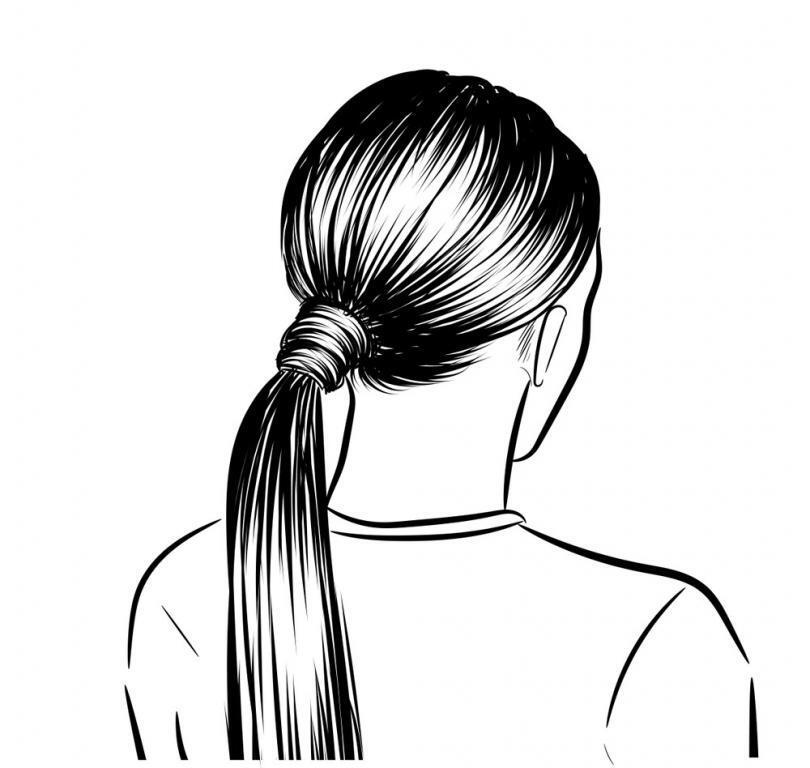 Easy Ponytail Sketch